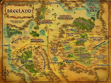 """Map of Middle Earth The Lord of the Rings Map Movie poster 17"""" x 13"""" Decor 16"""