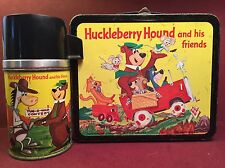 Vintage Huckleberry Hound Lunch Box And Thermos 1961 Aladdin Industries