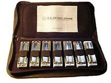 Seydel 1847 Classic/Silver 7 Harmonica Set With Case - STAINLESS STEEL REEDS!