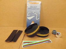 New-Old-Stock Iscaselle Padded Bar Tape - Black (w/End Plugs)