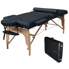 "BestMassage 77"" Long 30"" Wide 3"" Pad Black Portable Massage Table B"