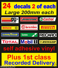 24 x motorsport toolbox workshop decals vw car van mini bus truck bumper sticker