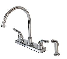 Hardware House 12-2009 Chrome TWO-HANDLE high-rise KITCHEN FAUCET W/SPRAY NEW
