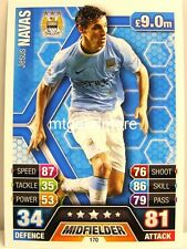 Match Attax 2013/14 Premier League - #170 Jesus Navas - Manchester City