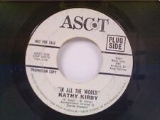"KATHY KIRBY ""IN ALL THE WORLD / TIME"" 45  PROMO"