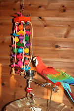 "X-Large Parrot Toy (Balls & Squares)JK112 Macaw/Cockatoo  24""+ H Chewing - Climb"