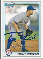 Texas Rangers TOMMY MENDONCA Signed Bowman Card