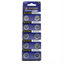 10X AG13 SR44 LR44 L1154 357 A76 Alkaline batteries button cells watch camera FT