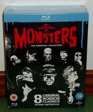 UNIVERSAL MONSTERS-THE ESSENTIAL COLLECTION-8 BLU-RAY-NUEVO-NEW-PRECINTADO