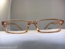 NEW SOHO 56 BROWN CRYSTAL RECTANGULAR EYEGLASS FRAME