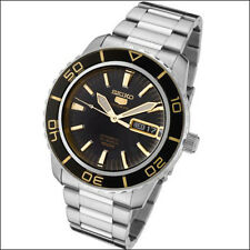 Seiko 41mm 5 Sports Automatic Watch with Stainless Steel Bracelet #SNZH57K1