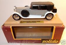 AGE D'OR OLD SOLIDO HISPANO SUIZA DECOUVRABLE 1926 GRIS BICOLORE REF 62 1/43 BOX