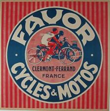 Favor Cycles & Motos Original Vintage Advertising Poster