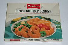 1960's MORTON Fried Shrimp TV DINNER BOX  vintage frozen food