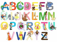 Disney Character Alphabet (4) Colour Cross Stitch Chart