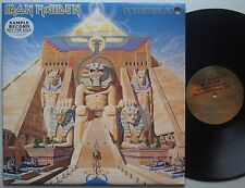IRON MAIDEN Powerslave PROMO Lp AUSTRALIA '85 OZ VINYL EMI UK Heavy Metal ERROR