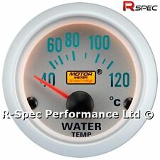 Silver Face 52mm Water Temperature / Temp Gauge Kit With 1/8 Npt Temp Sensor
