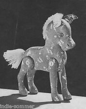 ~ Vintage Jointed Stuffed Toy Horse/Pony , Reproduction Sewing  Pattern!