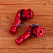 Motorcycle CNC 90 Degree Angled 11.3mm Tire Valve Stems Red