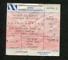 1984 Roger Waters Concert Ticket Stub Birmingham Pros and Cons of Hitch Hiking