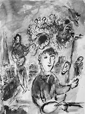 CHAGALL - DERRIERE LE MIROIR - LITHOGRAPH - 1977 - FREE SHIPPING IN US