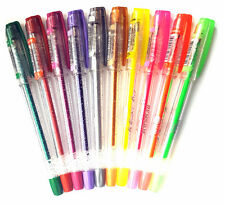 NEW TO UK. Excellent Quality Glitter & Neon Gel Pens. 1.0mm Swiss Tip 10 Colours