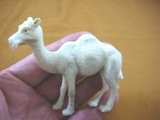 (cam-3) lg white Camel of shed ANTLER figurine Bali detailed carving dromedary
