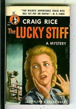 THE LUCKY STIFF by Craig Rice, rare US Pocket #391 1st crime gga pulp vintage pb