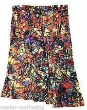 NWT CHICO'S Mardi Gra Haley Skirt size 2 (12-14) Multi-Color Uneven Hem