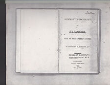 Summary Geography of Alabama, one of the United States, Cummins, 1819 xerox