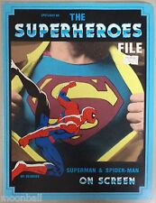 RARE! THE SUPERHEROES FILE Superman & Spider-Man on Screen 1986 By Ed Gross