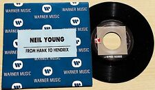 "NEIL YOUNG - FROM HANK TO HENDRIX - 45 GIRI 7"" PROMO SPAIN PRESS"