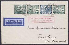 DR ZD W 48 auf Lupo Brief Essen - Luftpostamt Stuttgart - Konstanz 1934 Nothilfe