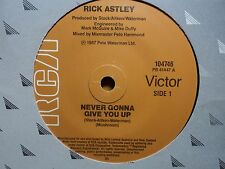 "Rick Astley ""Never Gonna Give You Up"" 80s Smash Oz 7"