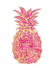 CHANEL NO 5 WATERCOLOUR PINEAPPLE ART IMAGE  A4 Poster Gloss Print Laminated