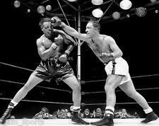 ROCKY MARCIANO vs ARCHIE MOORE 1955 BOXING FIGHT 8x10 PHOTO