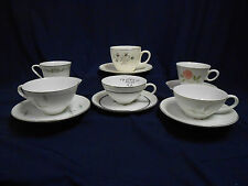 "Mixed Lot Vtg Mid Century ""Mad Hatter Tea Party"" Set (6) Cups Saucers Lot B6"