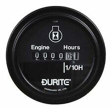 Durite Engine Hour Counter Illuminated 52mm Marine Kit Car Dash Gauge - 0-523-08