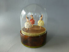 VINTAGE REUGE DANCING BALLERINA 3 DANCERS MUSIC BOX AUTOMATON (WATCH THE VIDEO)