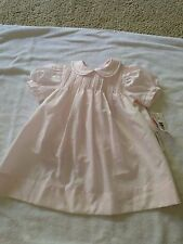 NWT Petit Ami baby girl 9 months dress bloomers pink embroidered smocked dressy