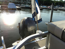 Delrin Pontoon Boat Party Barge Rail Flag Pole Mount / Holder, Made in the USA