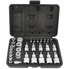 Male Female Torx Star Socket & Bit Set/ 30pcs E & T Sockets with Torx Bits Case