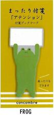 Cute Frog Attention Sticky Bookmark Memo Notes by Concombre Japan Post-it Style