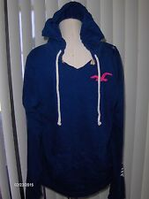NWT Hollister pullover hoodie Mens L blue logo