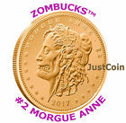 2013 MORGUE ANNE ZOMBUCKS™ COPPER BULLION 1 AVDP OZ .999 FINE COPPER ROUND Z2