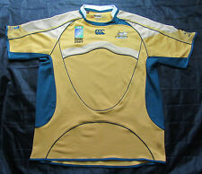 WALLABIES Australia RUGBY jersey by CANTERBURY WORLD CUP 2007 /men/yellow/ XXL