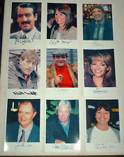 ONLY FOOLS AND HORSES JOB LOT OF 20 REPRINT AUTOGRAPH PHOTOGRAPHS CAST SIGNED