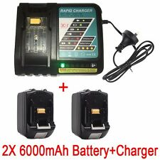 2x 6.0AH 18V Battery for Makita BL1860 BL1845 BL1830 BL1815 Li-Ion+Rapid Charger