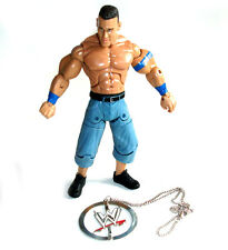 "WWF WWE Wrestling JON CENA 6"" superpose figure + Free Metal WWF necklace!!"
