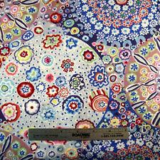 Kaffe Fassett MILLEFIORE PASTEL GP92 Blue Quilt Fabric by the Quarter Yard FQ